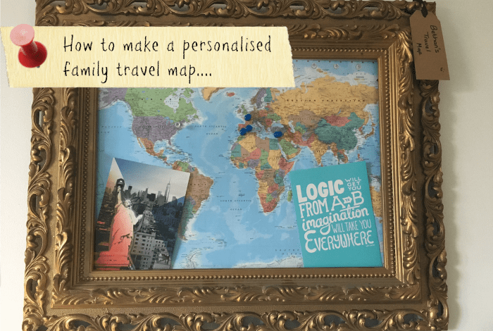 Create your own personalised family travel map….