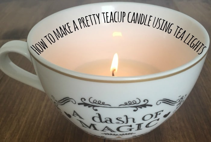 How to make a pretty teacup candle using tea lights….
