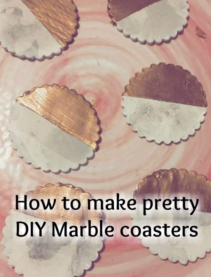 How to make pretty DIY Marble coasters