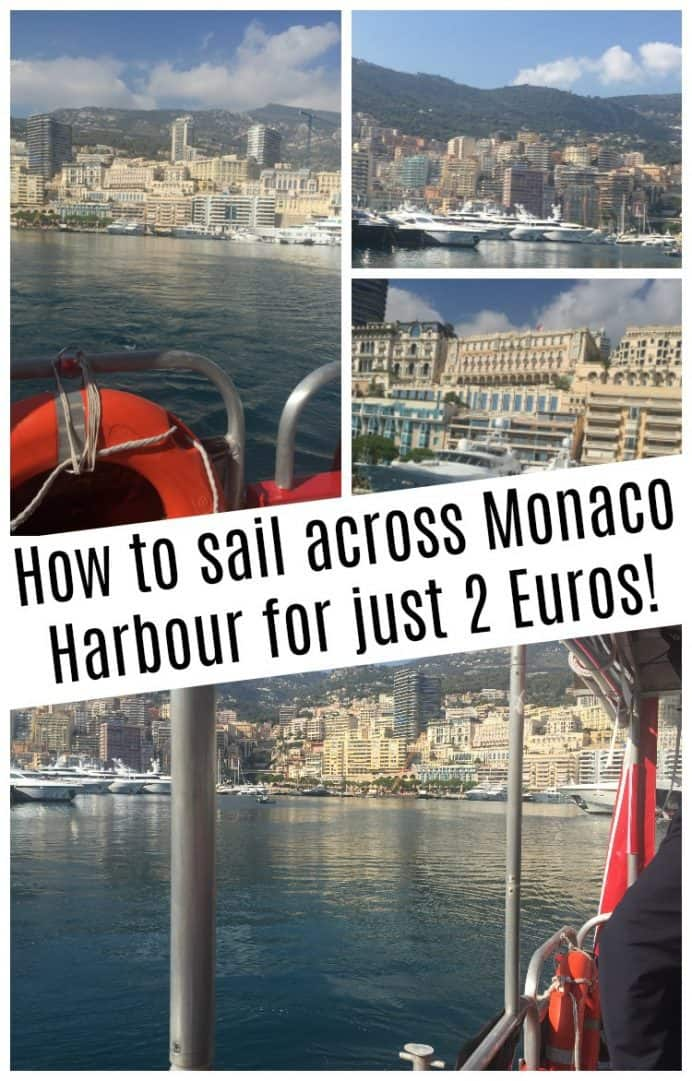 How to sail across Monaco Harbour for just 2 Euros!