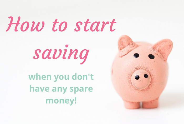 How to save when you think you can't afford to….