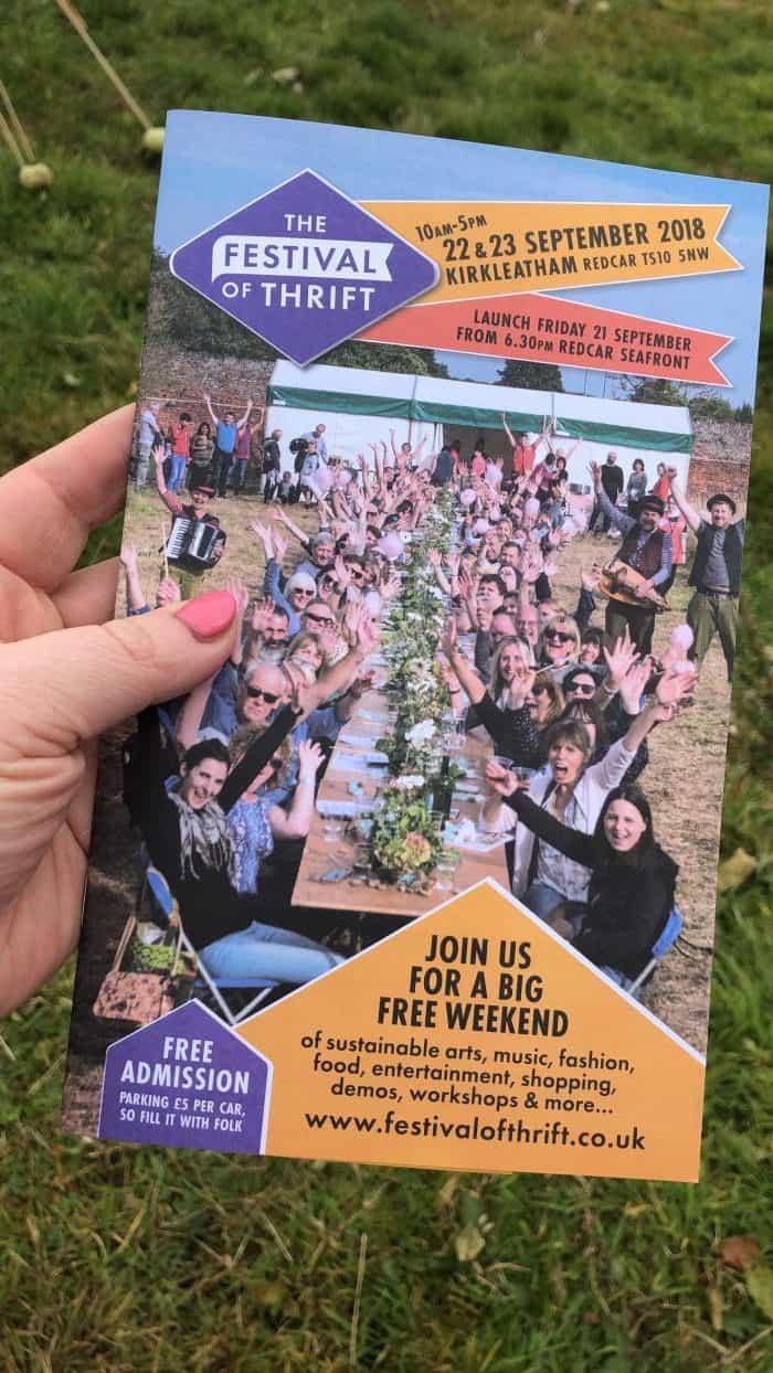 Festival of Thrift leaflet