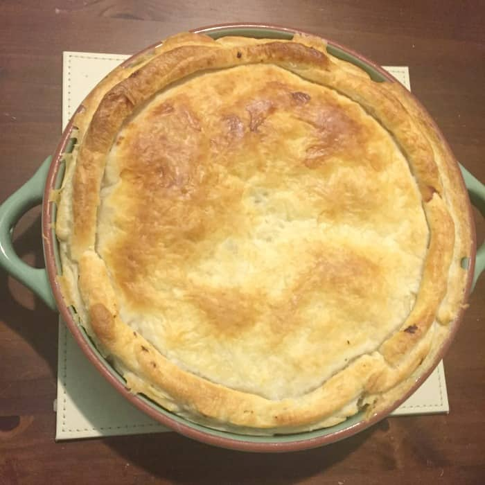 Leftover Turkey and Ham Pie