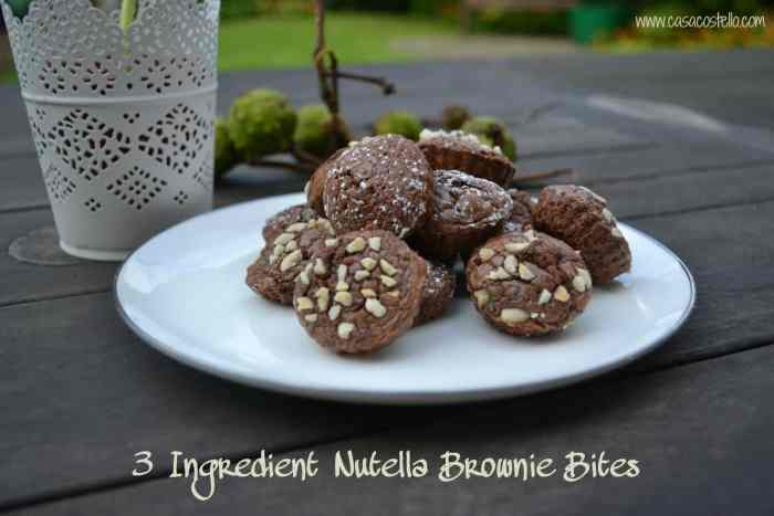 Fudgy Nutella Brownie Bites