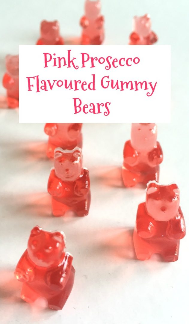 Pink Prosecco Flavoured Gummy Bears. The perfect grown up homemade treat.