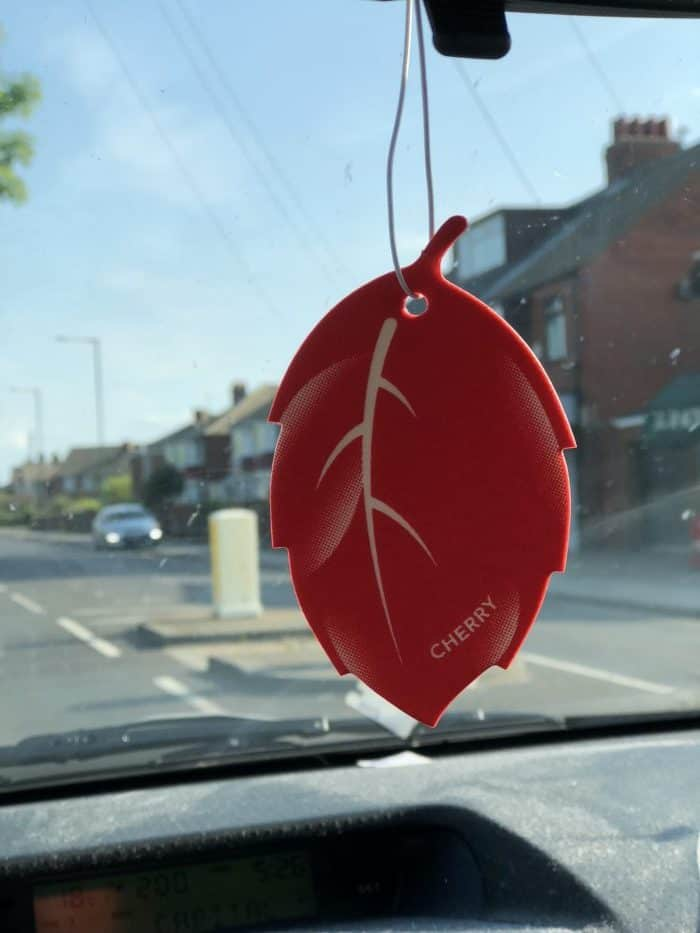 Refeshed a car air freshener with a few drops of zoflora