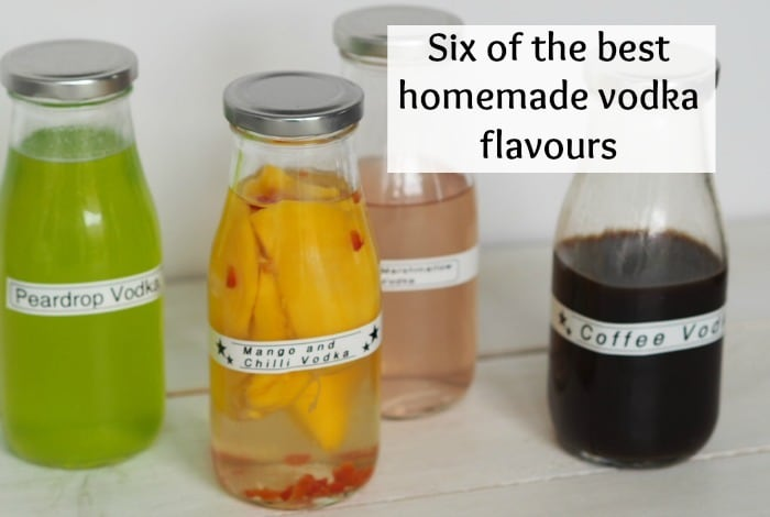 Six of my favourite homemade vodka flavours….