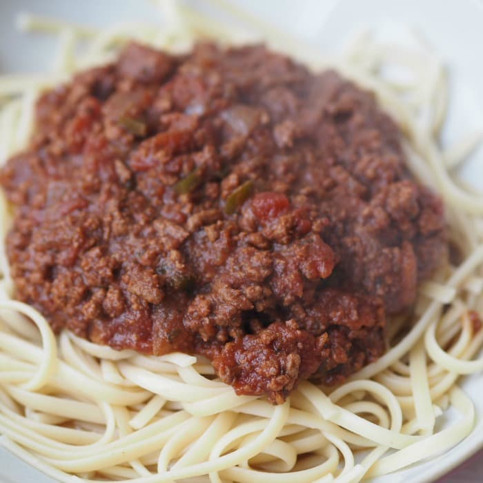 Slow Cooker bolognese recipe