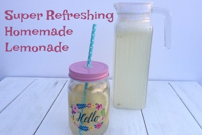 Super Refreshing Homemade Lemonade….