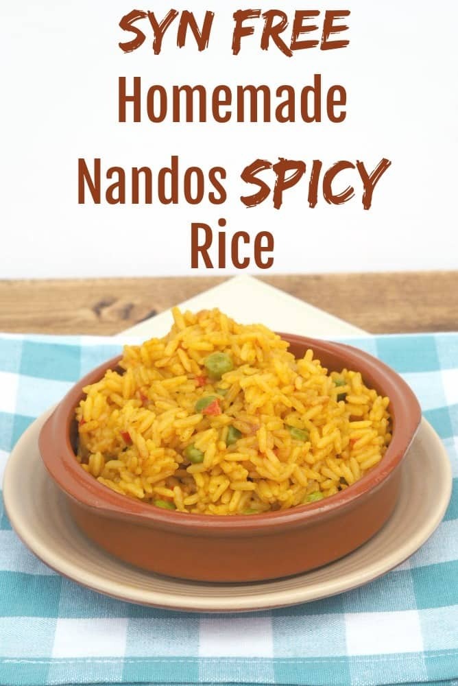 Syn Free. Homemade Nandos Spicy Rice - an amazing fakeaway recipe for all the family to enjoy. You definitely want to add this to you weekly meal plan....