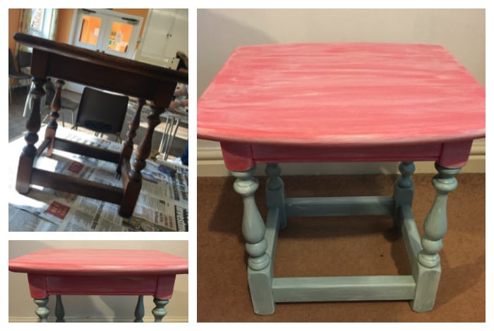 Using milk paints to upcycle furniture….
