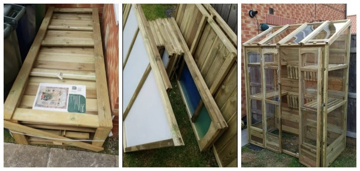 Flat pack greenhouse