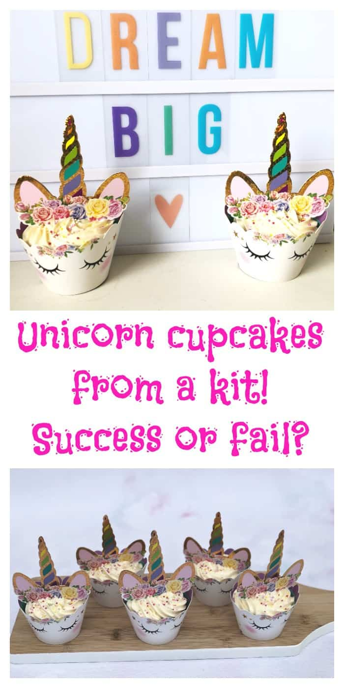 Unicorn cupcakes from a cheap kit - success or fail