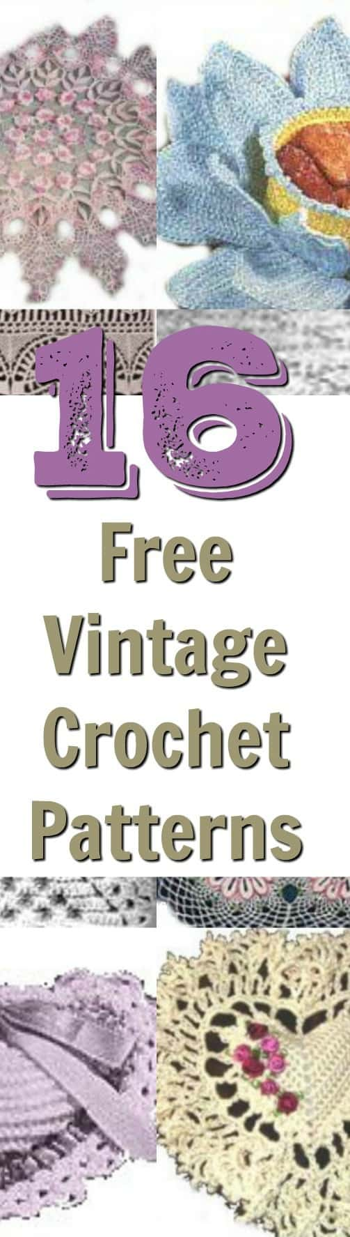 16 vintage crochet patterns - yours for free!