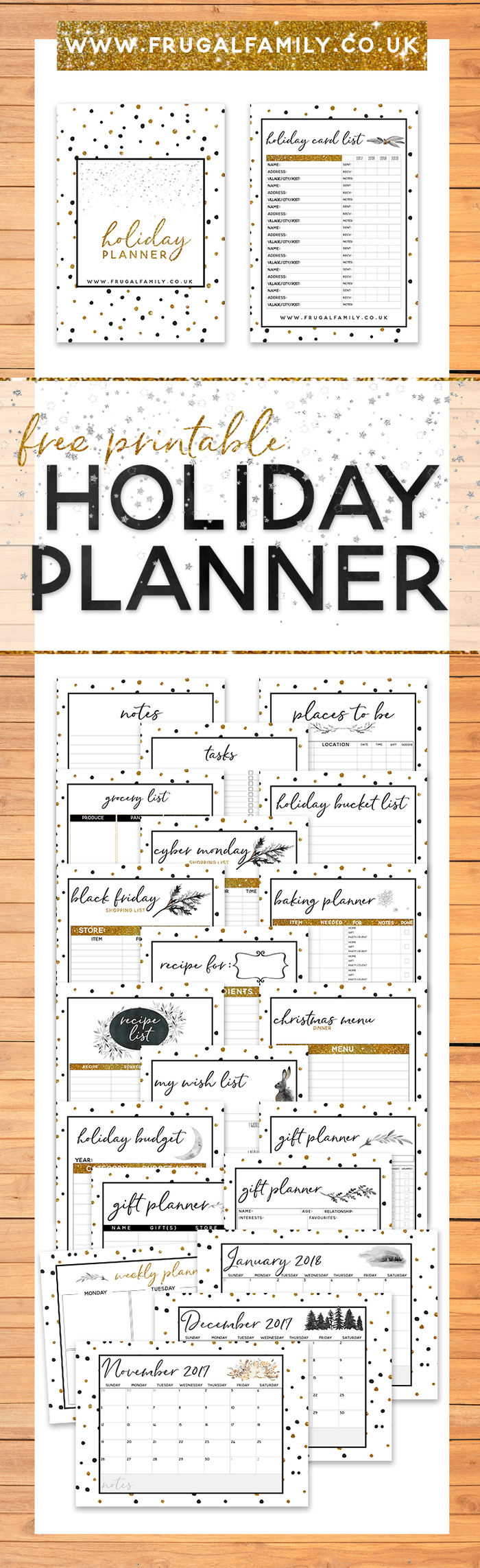 I'm going to be super nice and help you to have an amazingly organised Christmas by sharing my amazing FREE Christmas planner printable with you all!There's everything from Christmas gift buying lists to Christmas budgets and from Christmas meal planning to Christmas calendars.Can you afford not to take advantage of this Completely FREE Christmas Planner Printable launched today!#freeprintable #christmasplanner