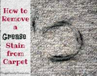 How to Remove a Grease Stain from Carpet