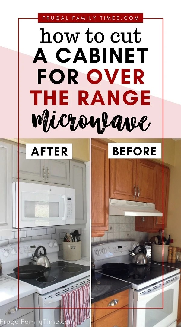 a cabinet for over the range microwave