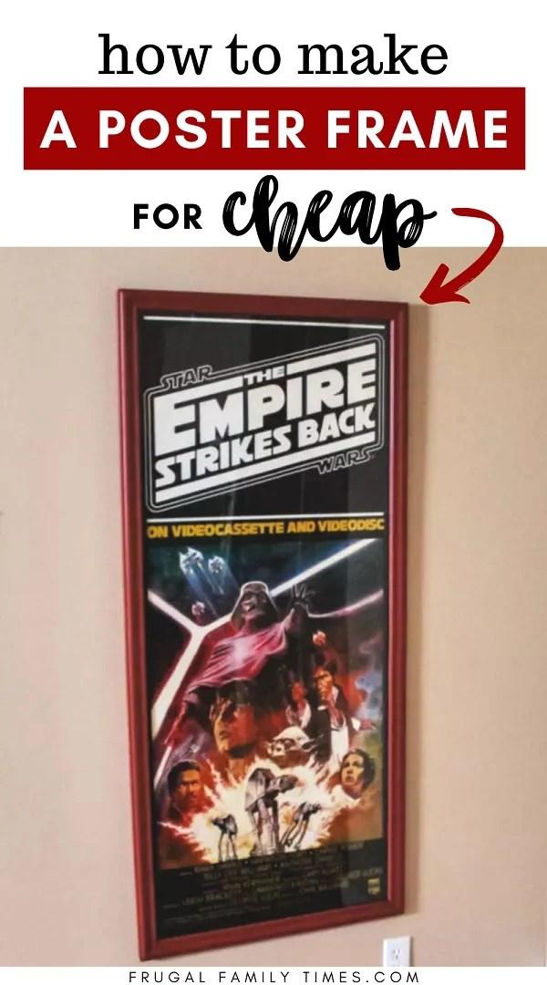 how to make a huge diy poster frame
