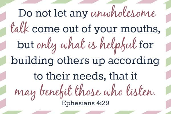 Ephesians 429 Bible Verses For Moms The Frugal Farm Wife