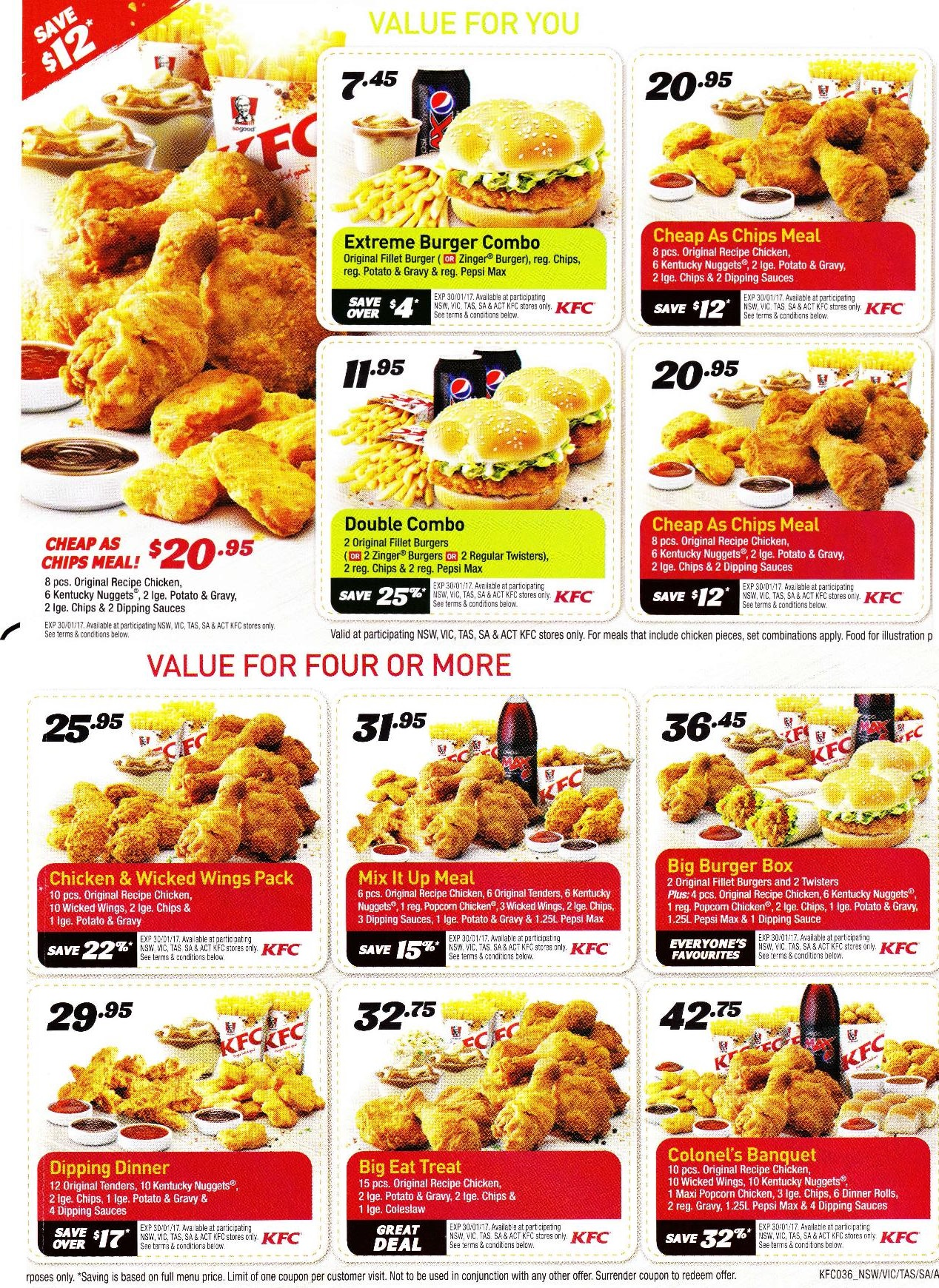 KFC Coupons. Add Favorite. Submit a Coupon. Submit a new coupon and help others save! Get the 5 Hot Wings Combo for Just $! Valid through 12/22/ May need to print out coupon and take to your nearest KFC location. Not valid in Alaska, Hawaii, or Puerto Rico. including KFC, in the Best of RetailMeNot emails. Please enter a valid.
