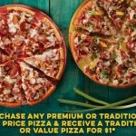 DEAL: Domino's – Buy One Premium/Traditional, Get One Traditional/Value Delivered for $1 (17 June)