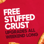 DEAL: Pizza Hut – Free Stuffed Crust Upgrades All Weekend (24-25 March)