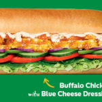 NEWS: Subway Buffalo Chicken with Blue Cheese Dressing Sub (participating stores)