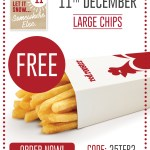 DEAL: Red Rooster – Free Large Chips Delivered (11 December – 25 Days of Christmas)