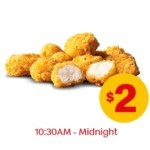 DEAL: McDonald's – 10 Chicken McBites for $2