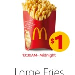 DEAL: McDonald's – $1 Large Fries (starts 19 June 2019)