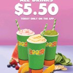DEAL: Boost Juice App – All Drinks for $5.50 on Tuesday 20 August 2019