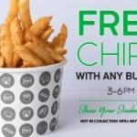 DEAL: Burger Project – Free Chips with Any Burger for Students between 3-6pm