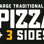DEAL: Domino's – 3 Large Traditional Pizzas + 3 Sides for $33 Delivered (until 22 November 2019)