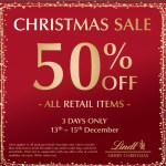 DEAL: Lindt Chocolate Shops – 50% off Retail Items from 13-15 December 2019