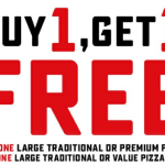 DEAL: Domino's – Buy One Traditional/Premium Pizza, Get One Traditional/Value Pizza Free (26 May 2020)