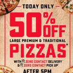 DEAL: Domino's – 50% off Large Traditional & Premium Pizzas after 5pm (29 May 2020)