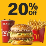 DEAL: McDonald's – 20% off with Minimum $10 Spend using mymacca's app (until 5 June 2020)