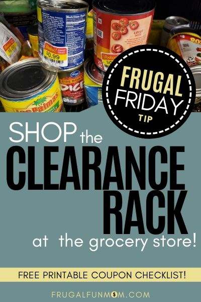 Shop The Clearance Rack - Frugal Friday Tip #7 | Frugal Fun Mom