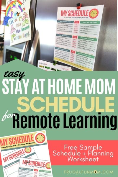 Easy Stay At Home Schedule | Frugal Fun Mom
