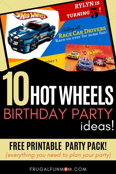 10 Hot Wheels Birthday Party Ideas | Frugal Fun Mom