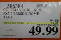 Costco Sale: Coleman Screened 4-Person Evanston Tent $49 ...