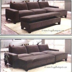 Chaise Sofa With Ottoman Costco Leather Motion Sets Storage 849 99 Frugal Hotspot