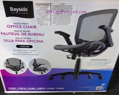 desk chair costco bariatric transport sale bayside furnishings black mesh office 74 99 metrex ii frugal hotspot