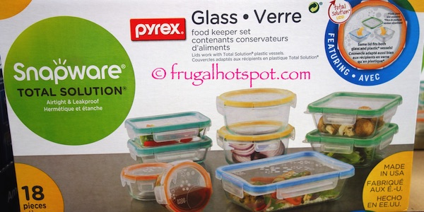 Costco Sale Snapware Pyrex Glass 18Pc Food Keeper Set