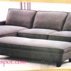 Chaise Sofa With Ottoman Costco Sears Bed Mattress Storage 799 99 Frugal Hotspot Gray