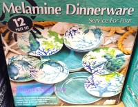 Costco Clearance: Sea Life Melamine 12-Pc Dinnerware Set ...