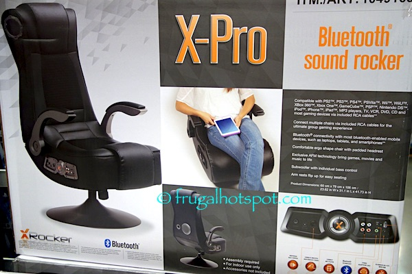 costco gaming chair full massage x rocker pro bluetooth sound 129 99 compatible with most devices included rca cables headphone jack for personal use flip arms angled headrest speakers optimal