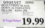 costco sale beautyrest black down