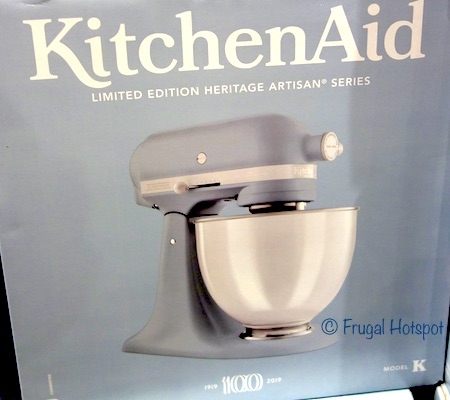 costco kitchen aid stand alone island sale kitchenaid 100 year anniversary 5 quart tilt head mixer misty blue limited edition heritage artisan series