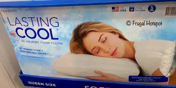 novaform cool gel memory foam pillow